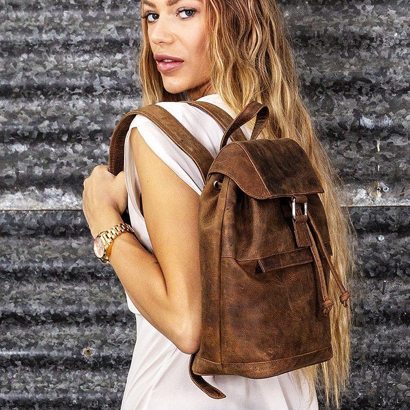 distressed sorrento rucksack