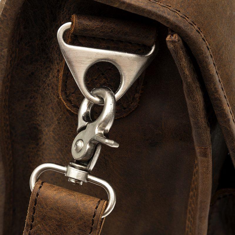 Milan distressed leather satchel