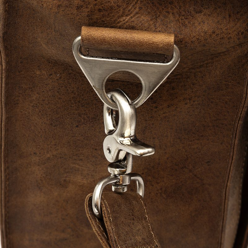 Trieste tan leather satchel