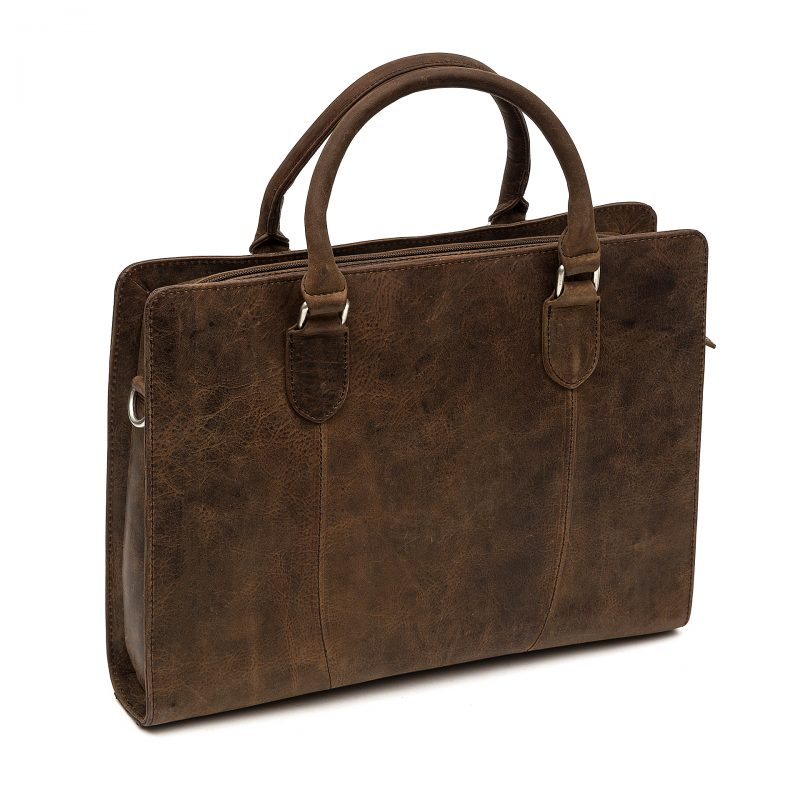 Rimini distressed leather macbook satchel