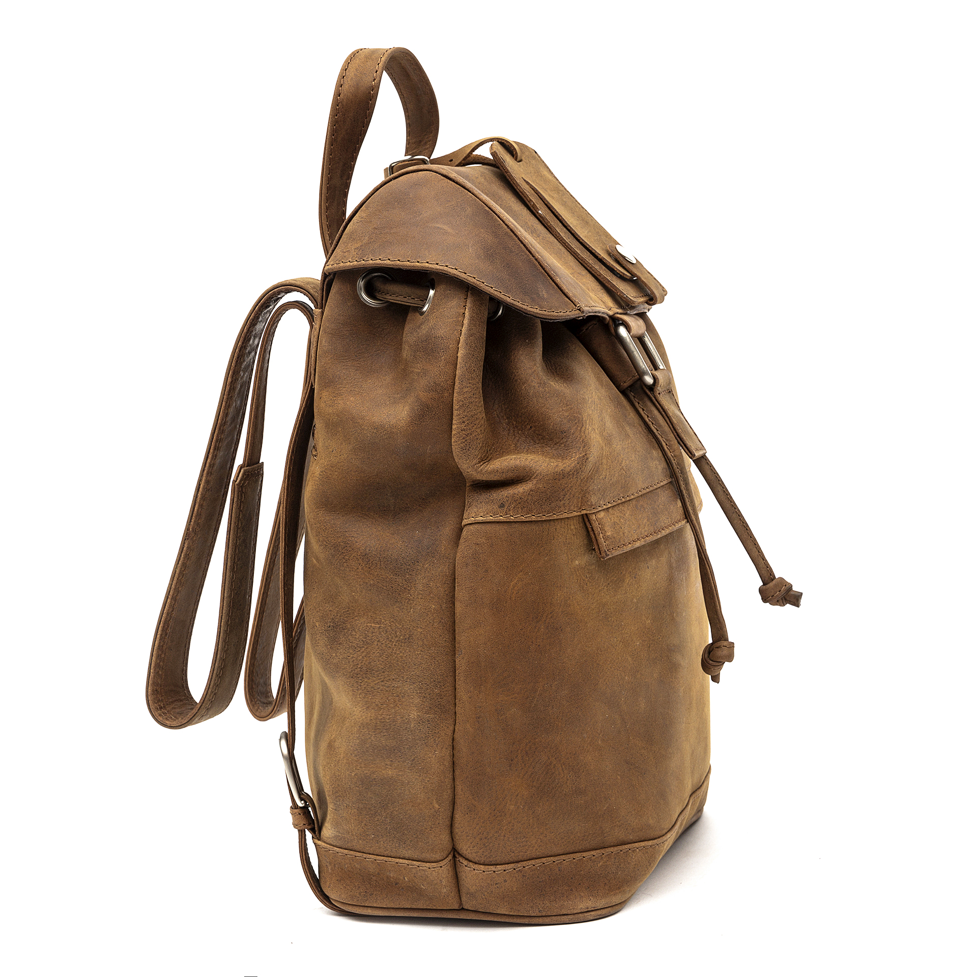 7e534ce78b38ac leather backpack by Porterbello's Sorrento rucksack tan vintage