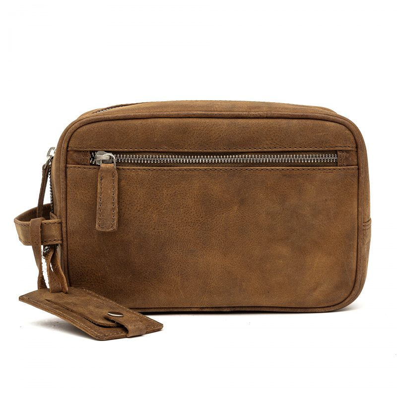 Pisa leather toiletries bag