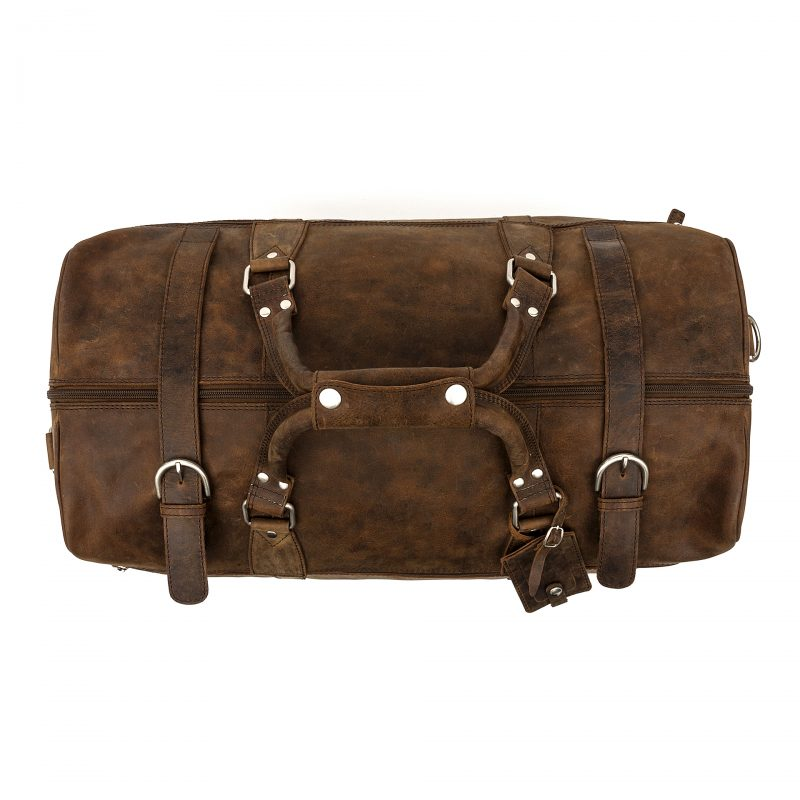 Distressed Rome leather holdall