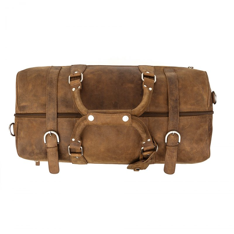 Tan Rome leather holdall
