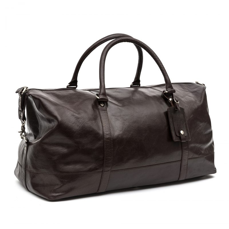 Turin leather holdall
