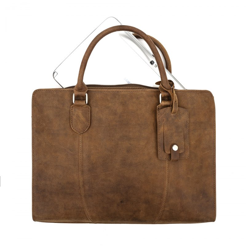 Rimini tan macbook satchel