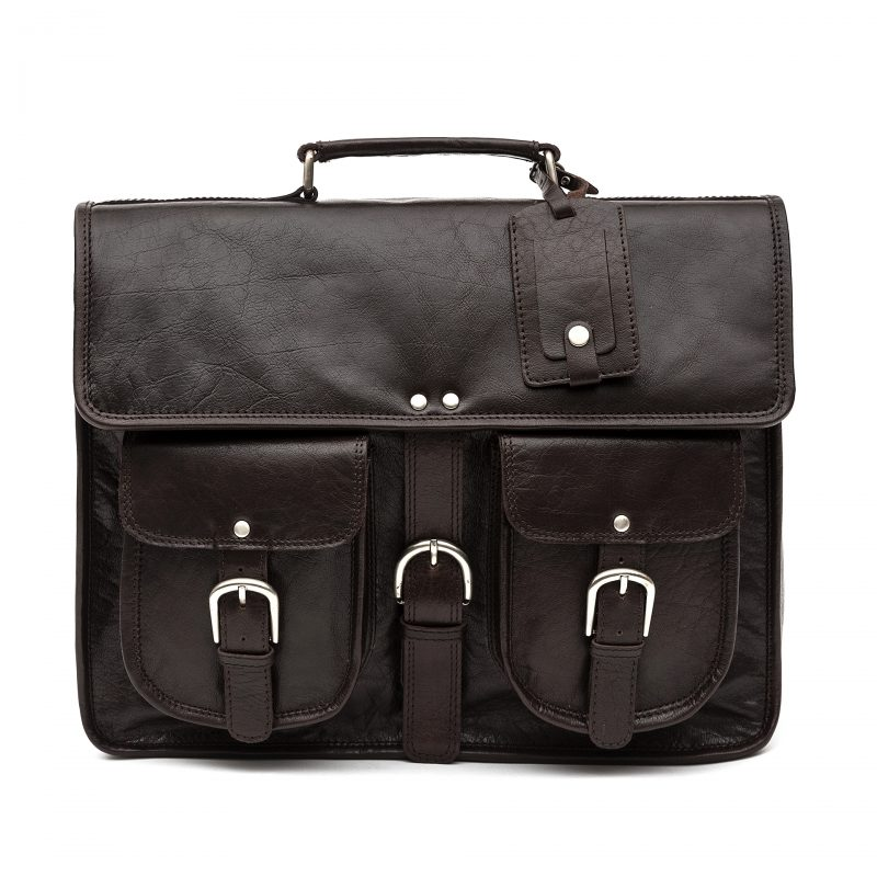 Milan brown leather satchel
