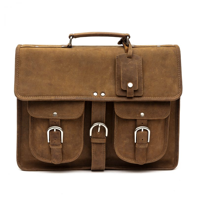 Milan tan leather satchel