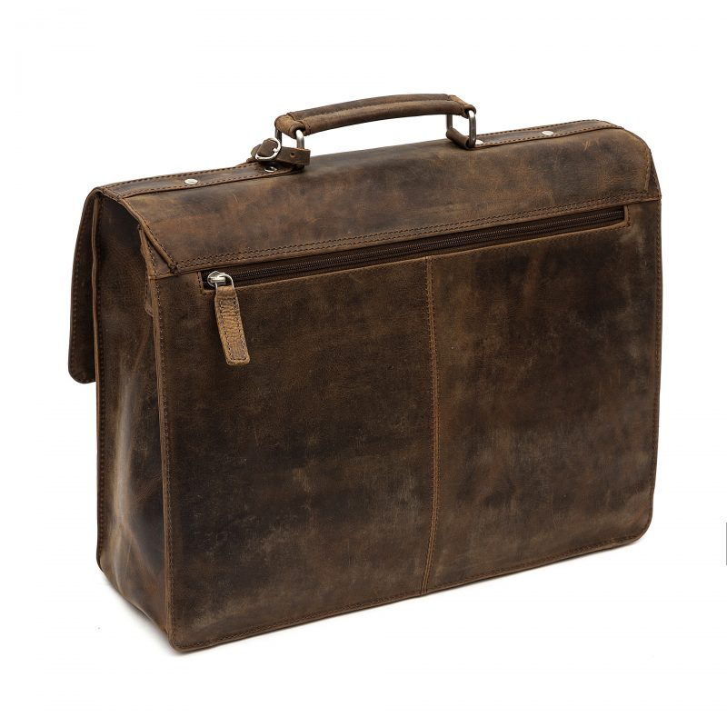 Trieste distressed leather satchel