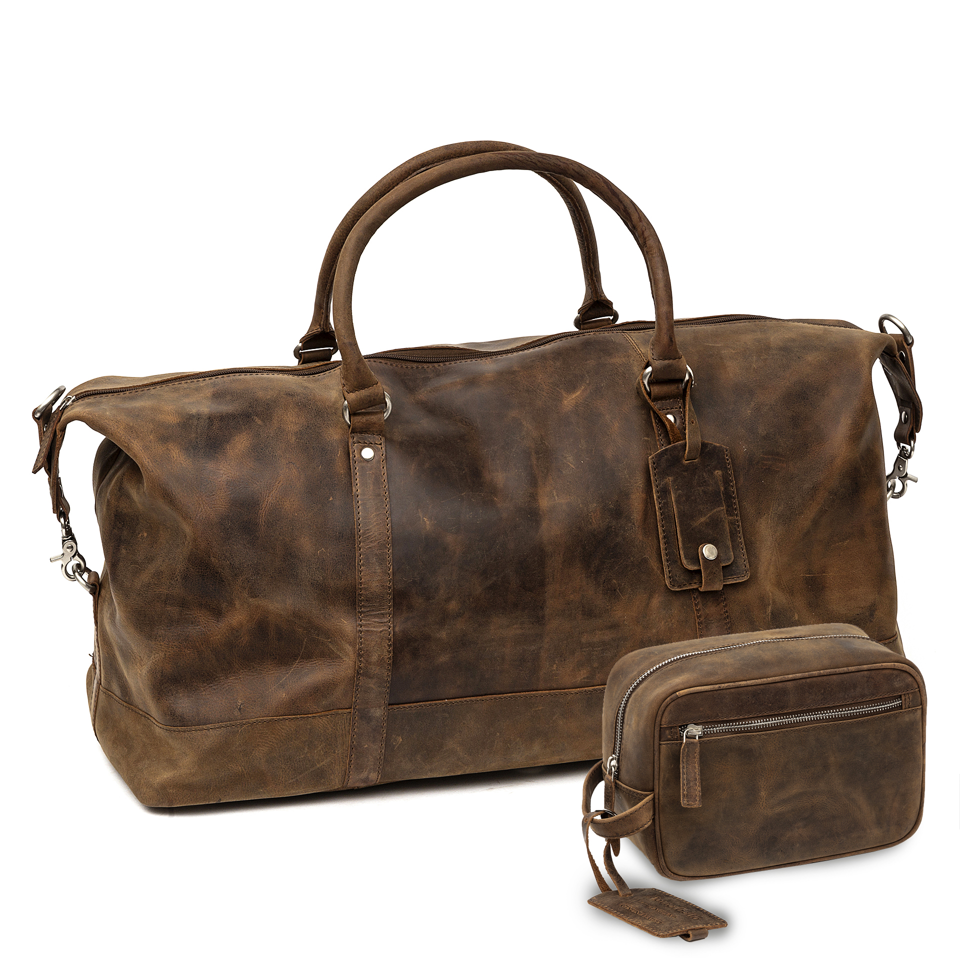 1e3aa5674c9d0b distressed leather duffle bag holdall brown cabin bag weekend flight bag