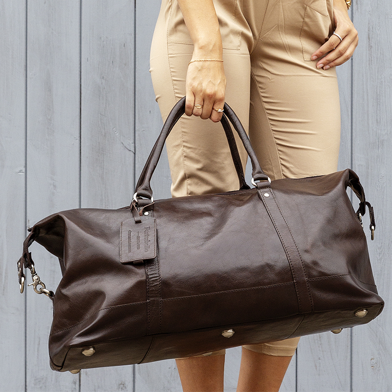 72cb72079cba leather duffle bag turin holdall brown cabin bag weekend flight bag