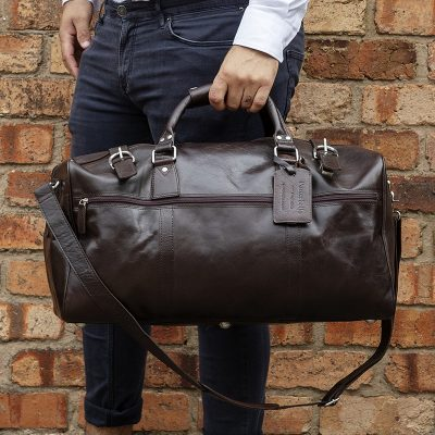 Rome leather holdall