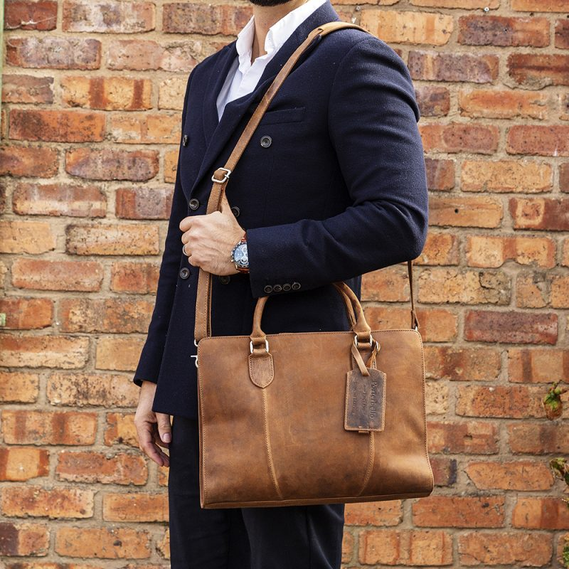 Tan Rimini Macbook Satchel