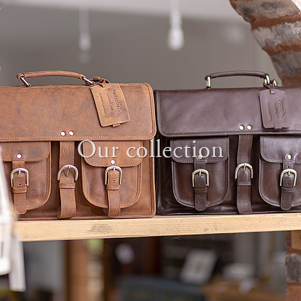 View our collection of handmade leather bags in our online shop