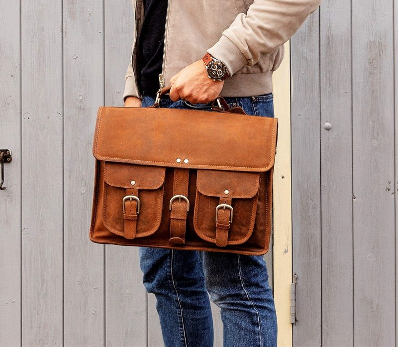 Milan Tan Satchel